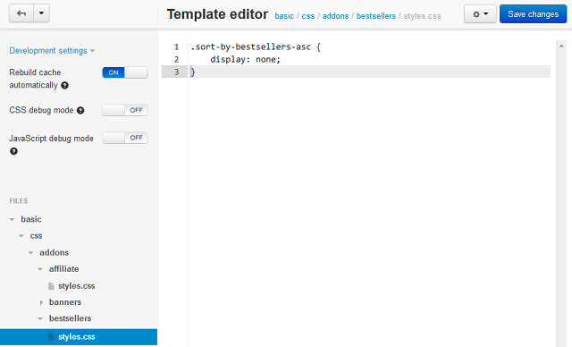 Template editor — CS-Cart 4.0.x documentation
