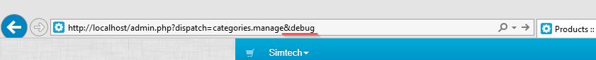 Enable debug mode with URL param