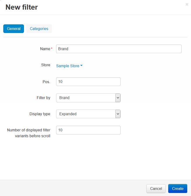 New filter