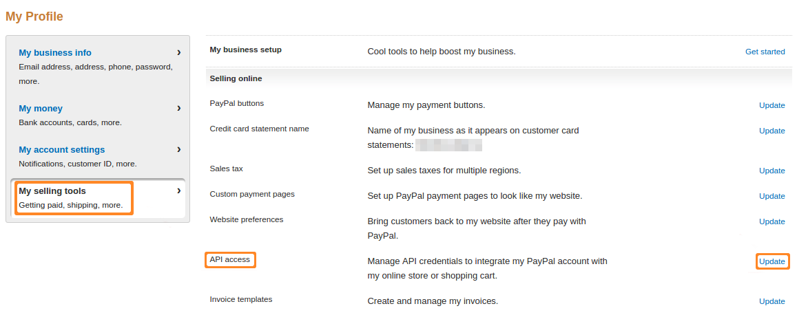 How To: Get Credentials for PayPal Adaptive Payments — CS