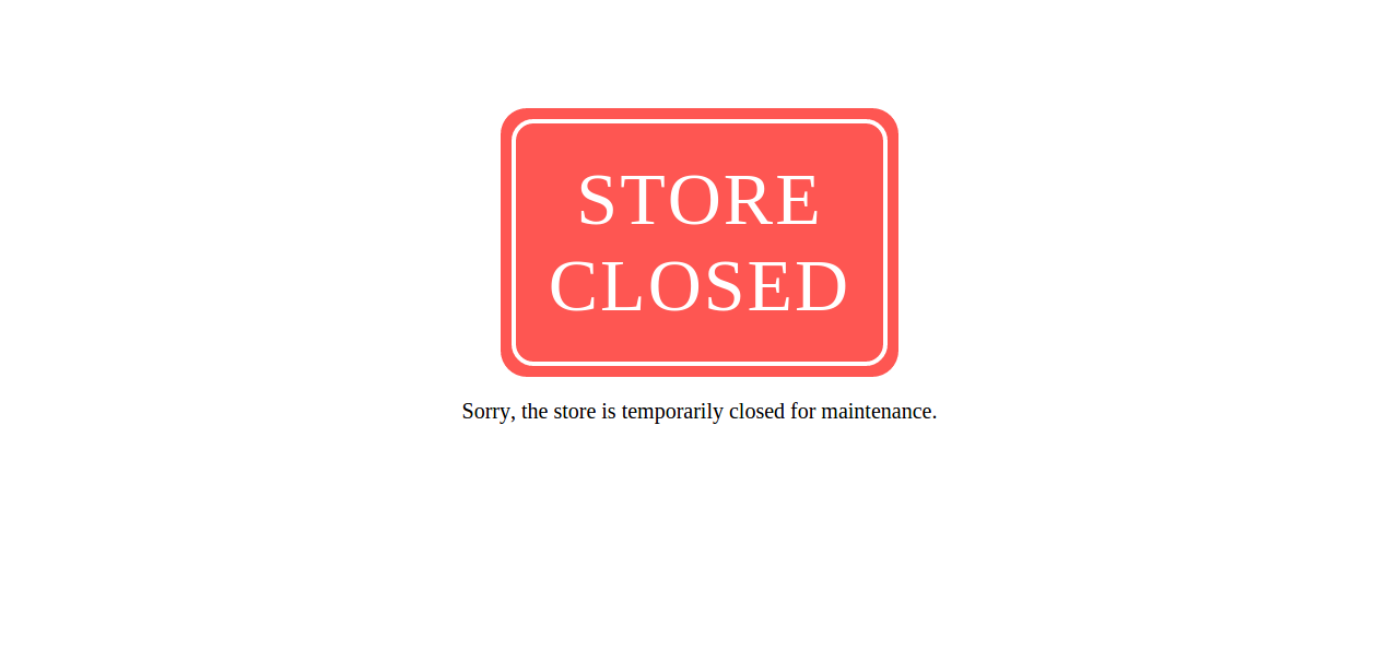 Closed storefront