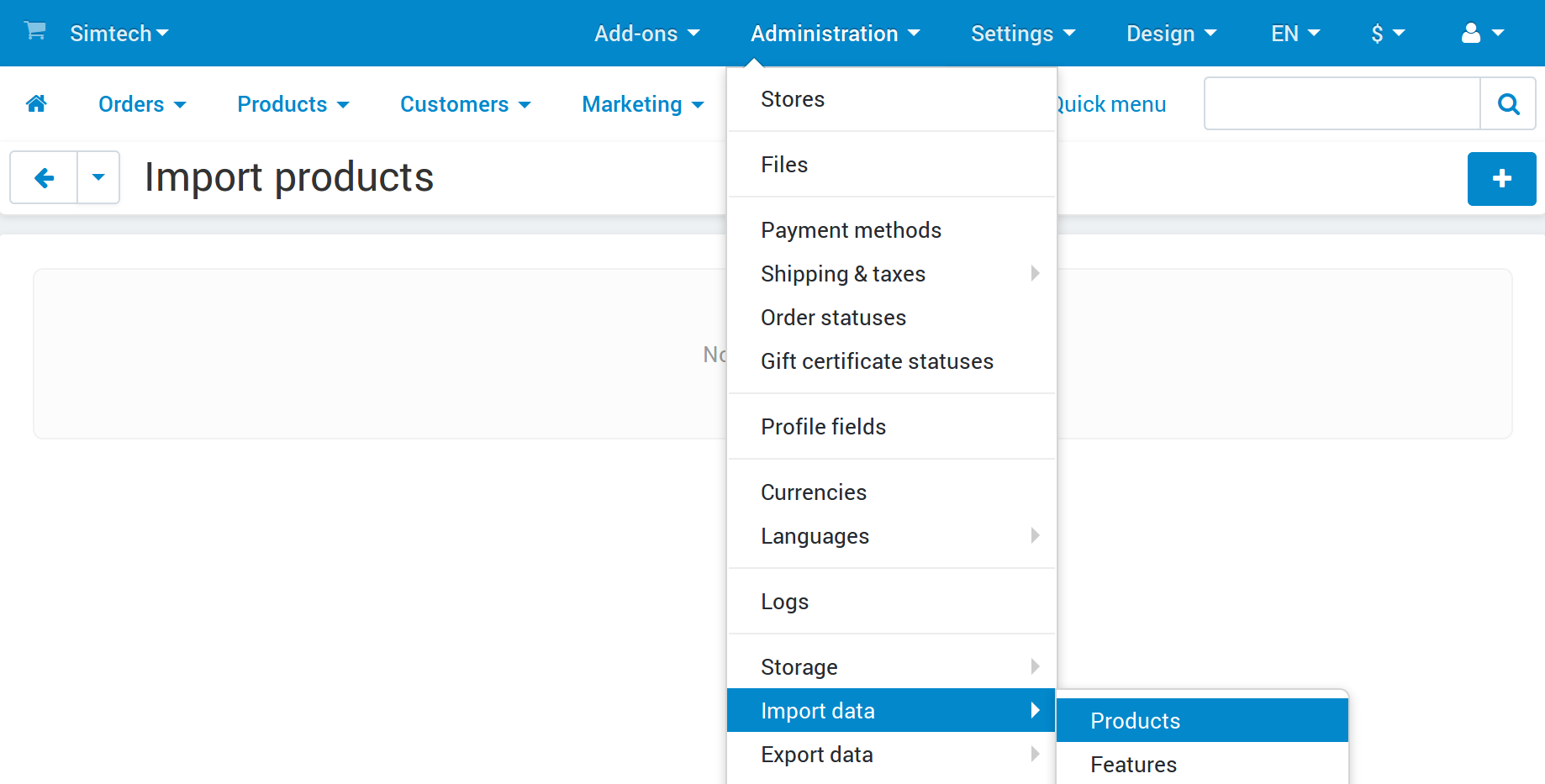 Advanced product import in CS-Cart.