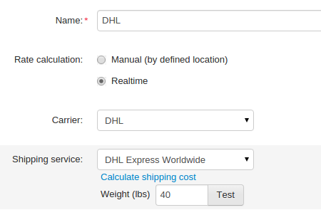 Make a test calculation to make sure the shipping costs are correct.