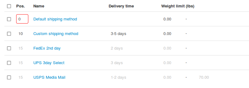 Make the desired shipping method come first on the list.