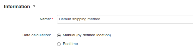 Set the shipping method's Rate Calculation setting to Manual.