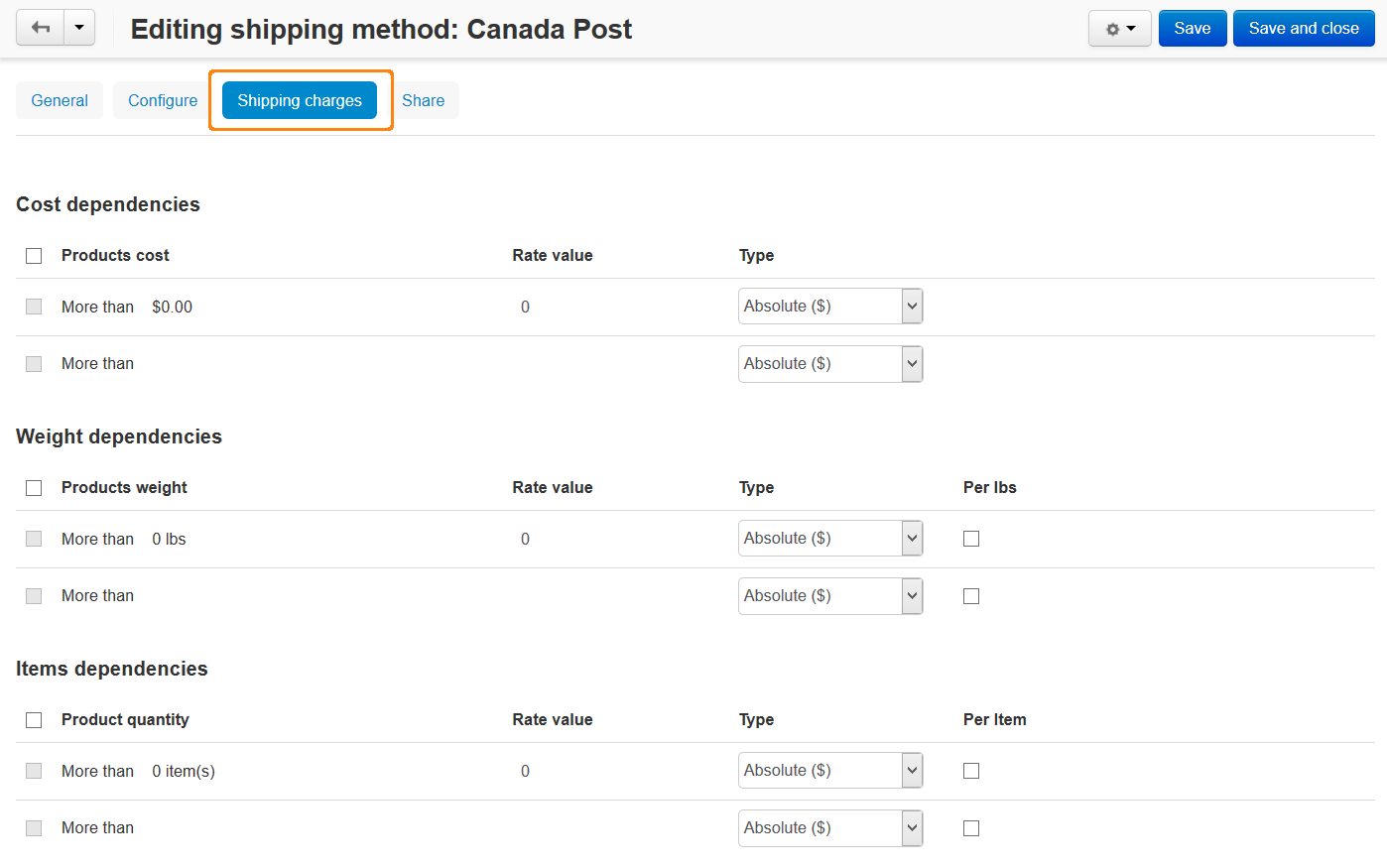 Additional shipping charges for real-time shipping methods in CS-Cart and Multi-Vendor.