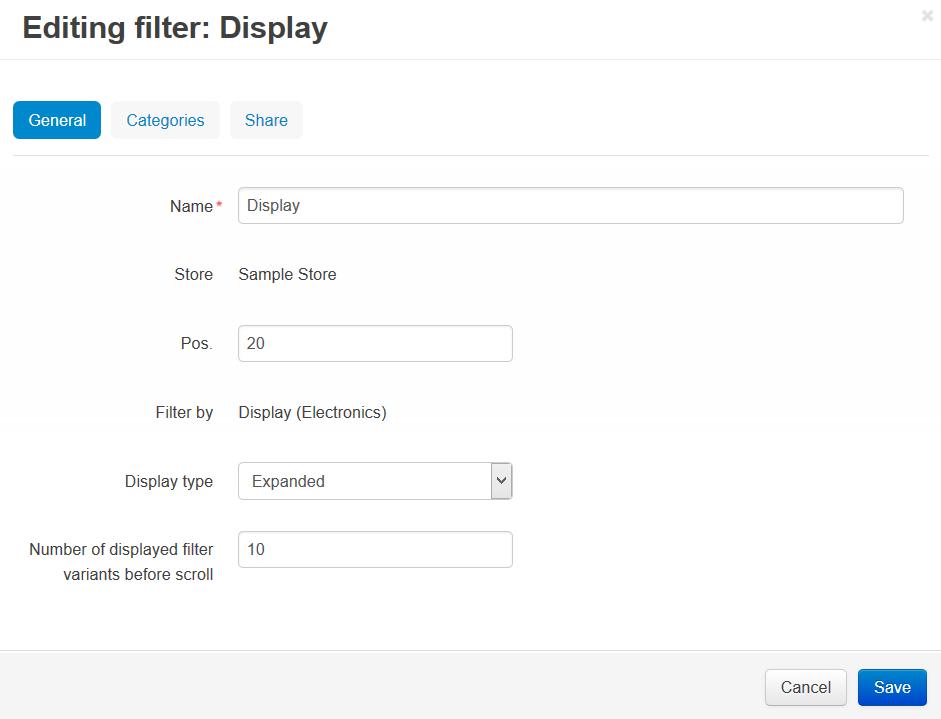 Filter attributes