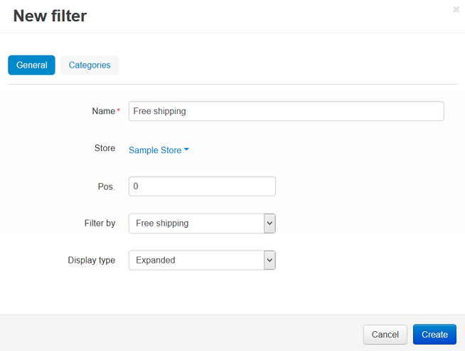 New Free shipping filter