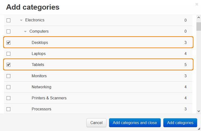 Add categories