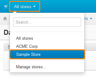 Select a store