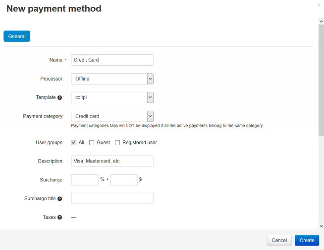 Set up the Offline Payment