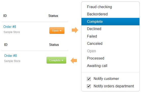 Change order status
