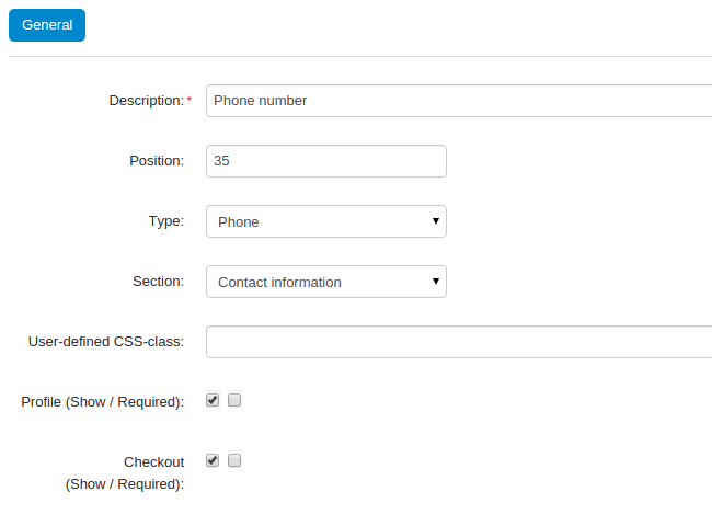 Create a new profile field for phone numbers with the Phone type.