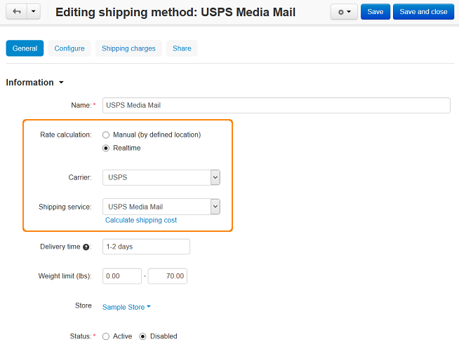 Setting up USPS in CS-Cart.