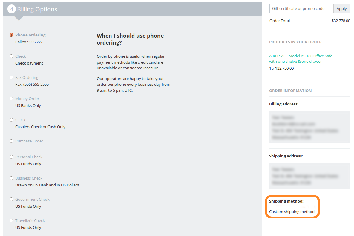 If you don't set up payment dependencies, customers will see all the available payment methods at checkout.