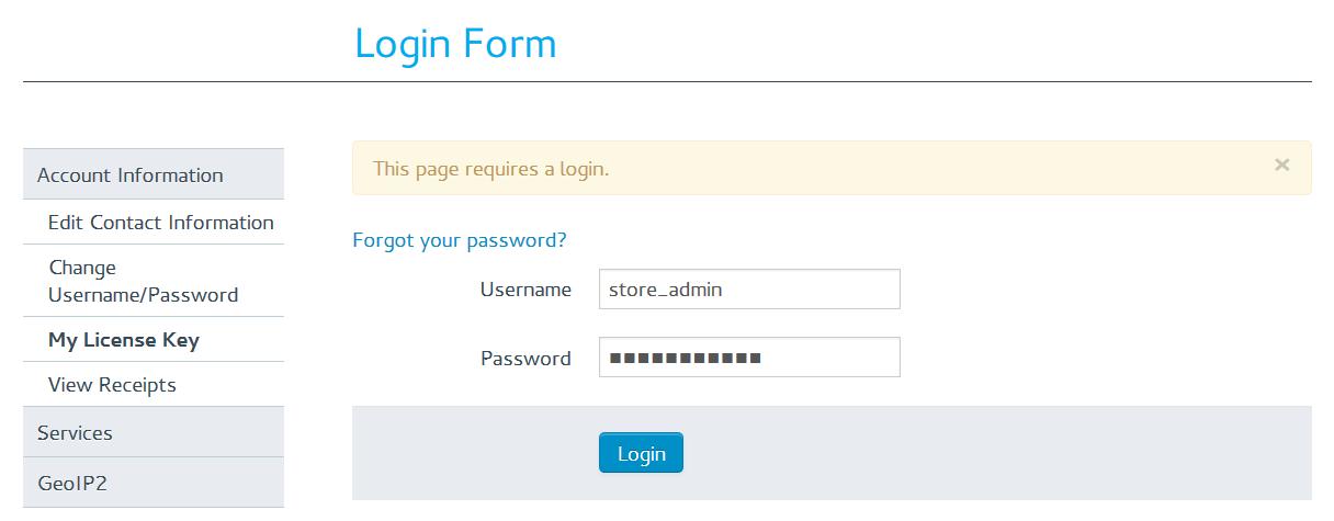 How To: Get MaxMind License Key — CS-Cart 4 10 x documentation