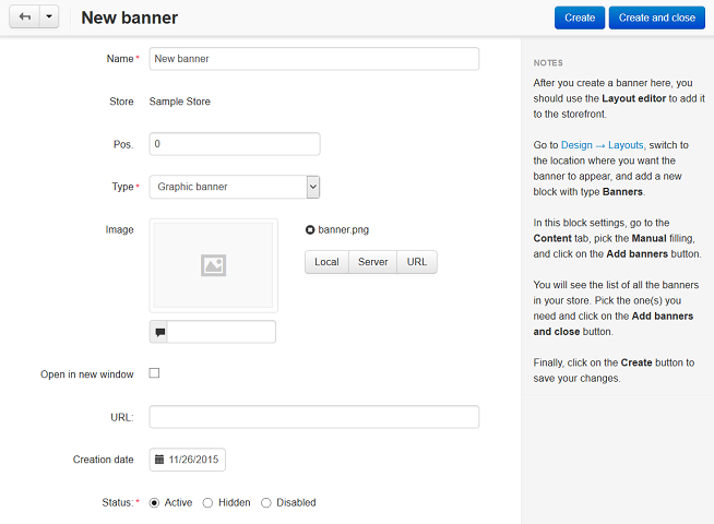 How To Add A Banner To The Homepage Cs Cart 4 11 X Documentation