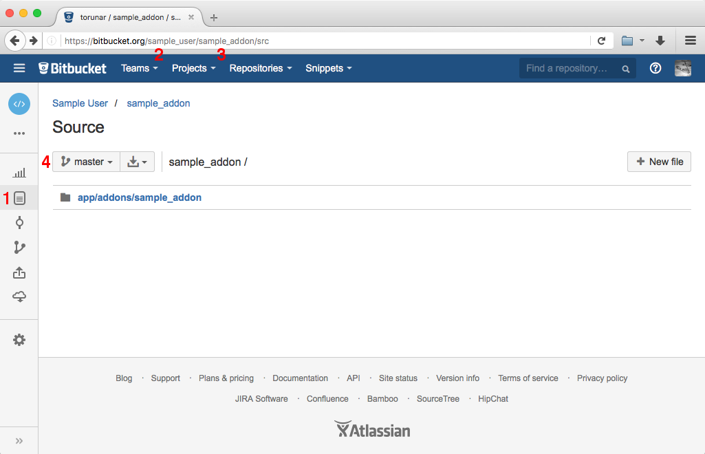 Enter the repository owner, repository name and branch name.
