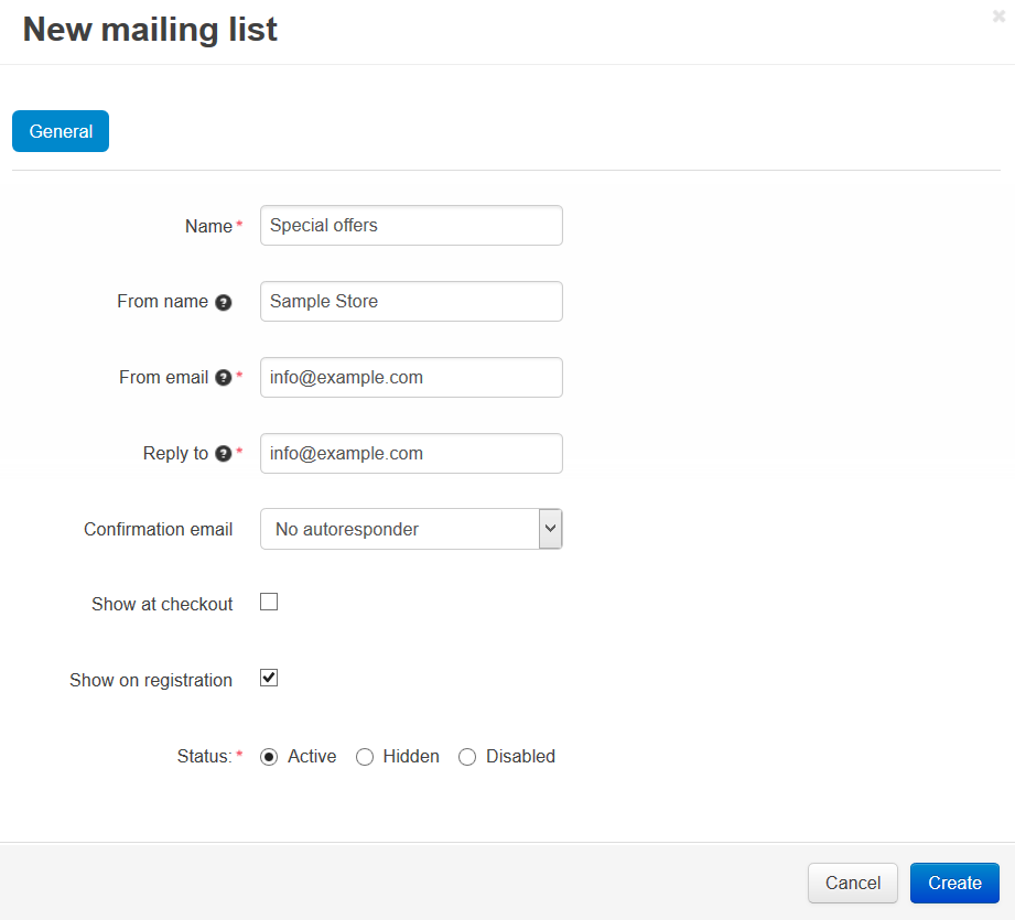 How To: Create a Mailing List — CS-Cart 4 10 x documentation