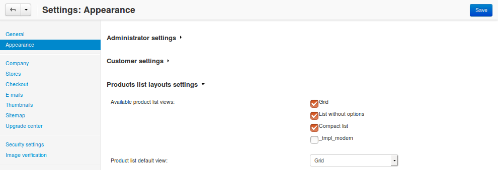 A custom template appears in the settings, but it still needs a name.