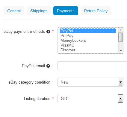 Ebay Payment Options >> How To Create Ebay Templates Cs Cart 4 10 X Documentation