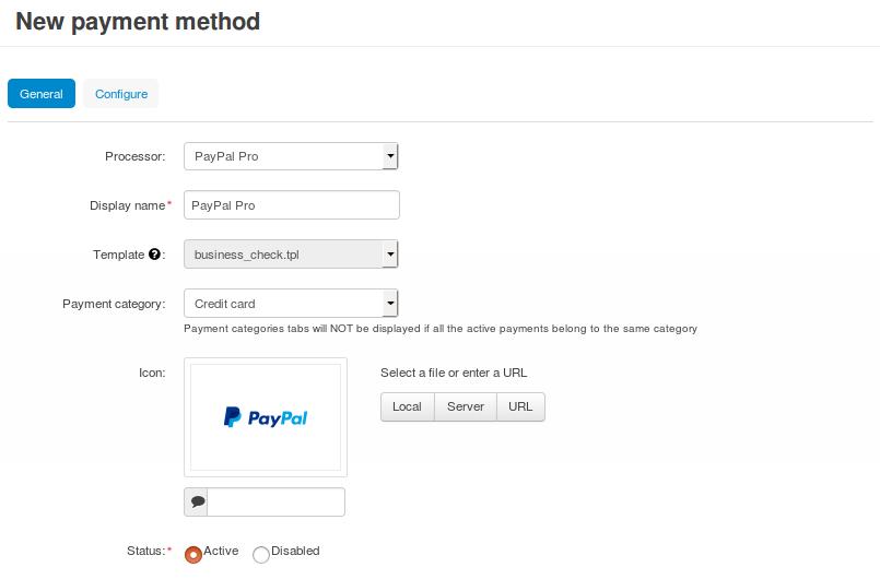 How To: Set up PayPal Pro in CS-Cart — CS-Cart 4 10 x
