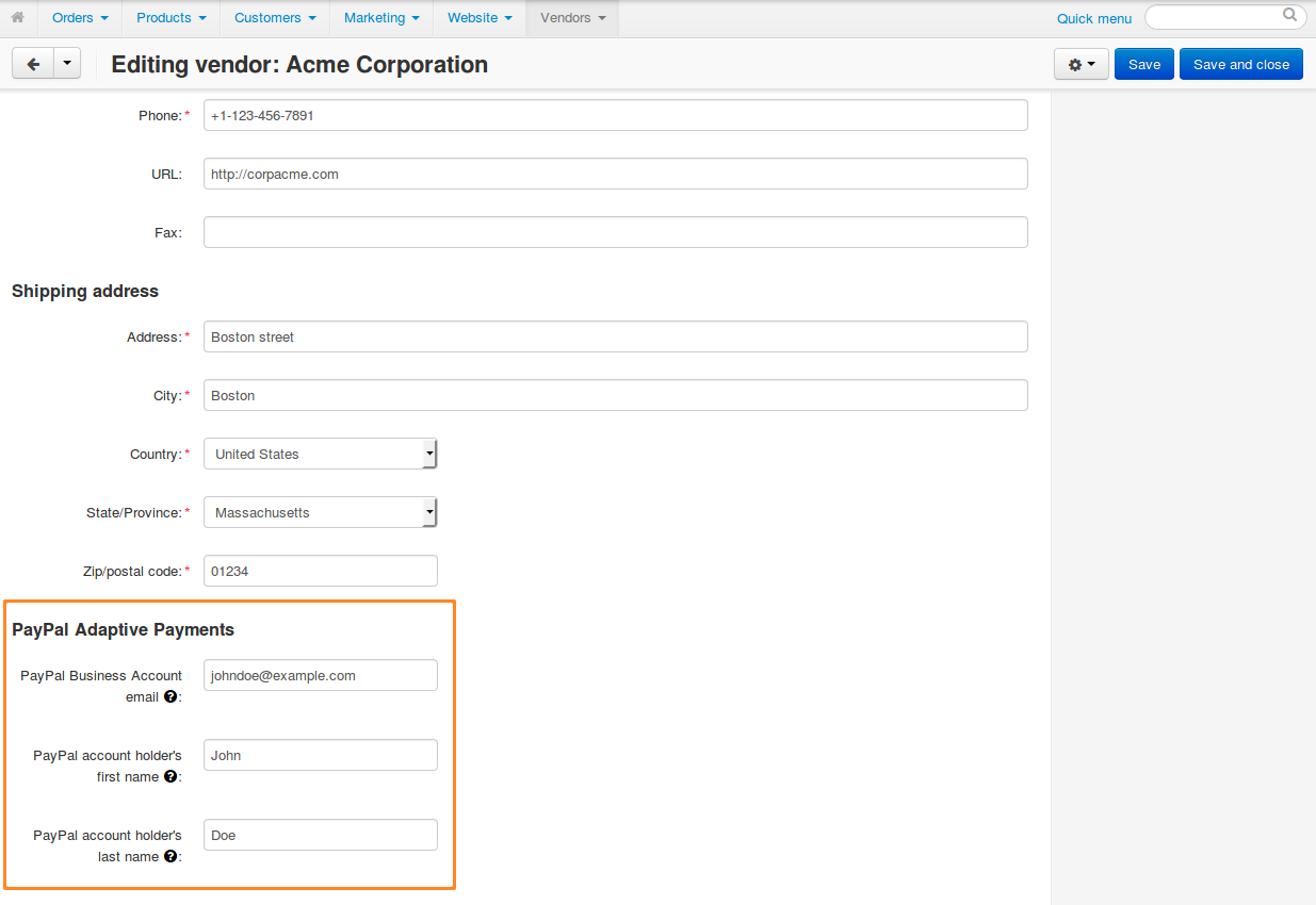 How To: Set up PayPal Adaptive Payments in Multi-Vendor — CS