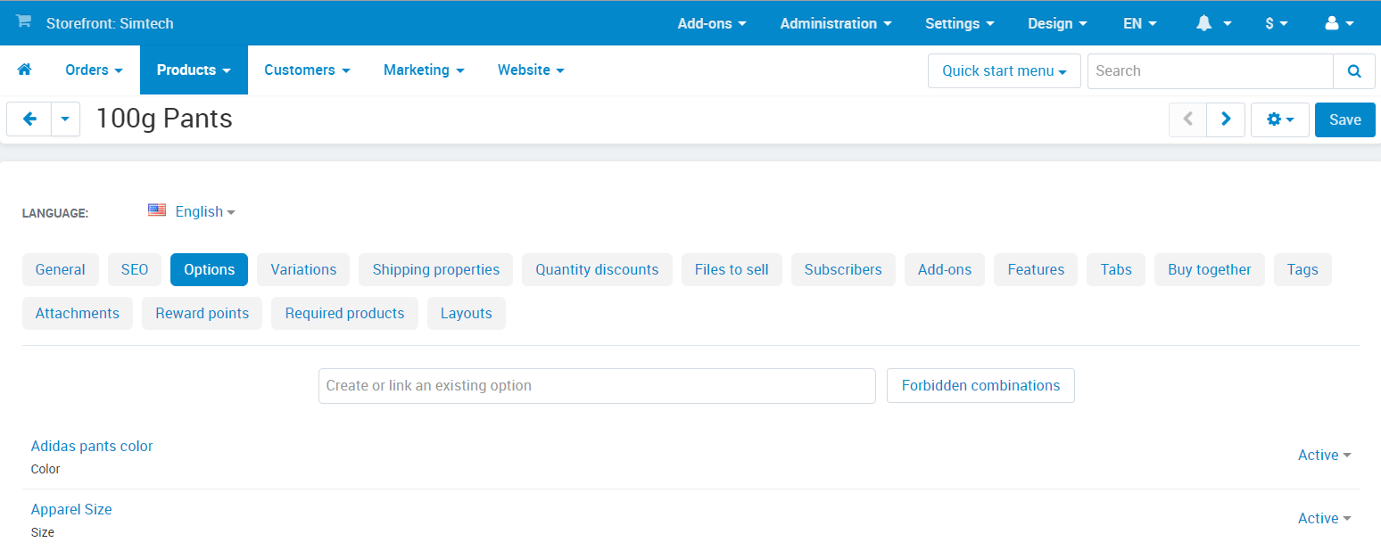 Product Properties (Fields and Settings) — CS-Cart 4 10 x documentation
