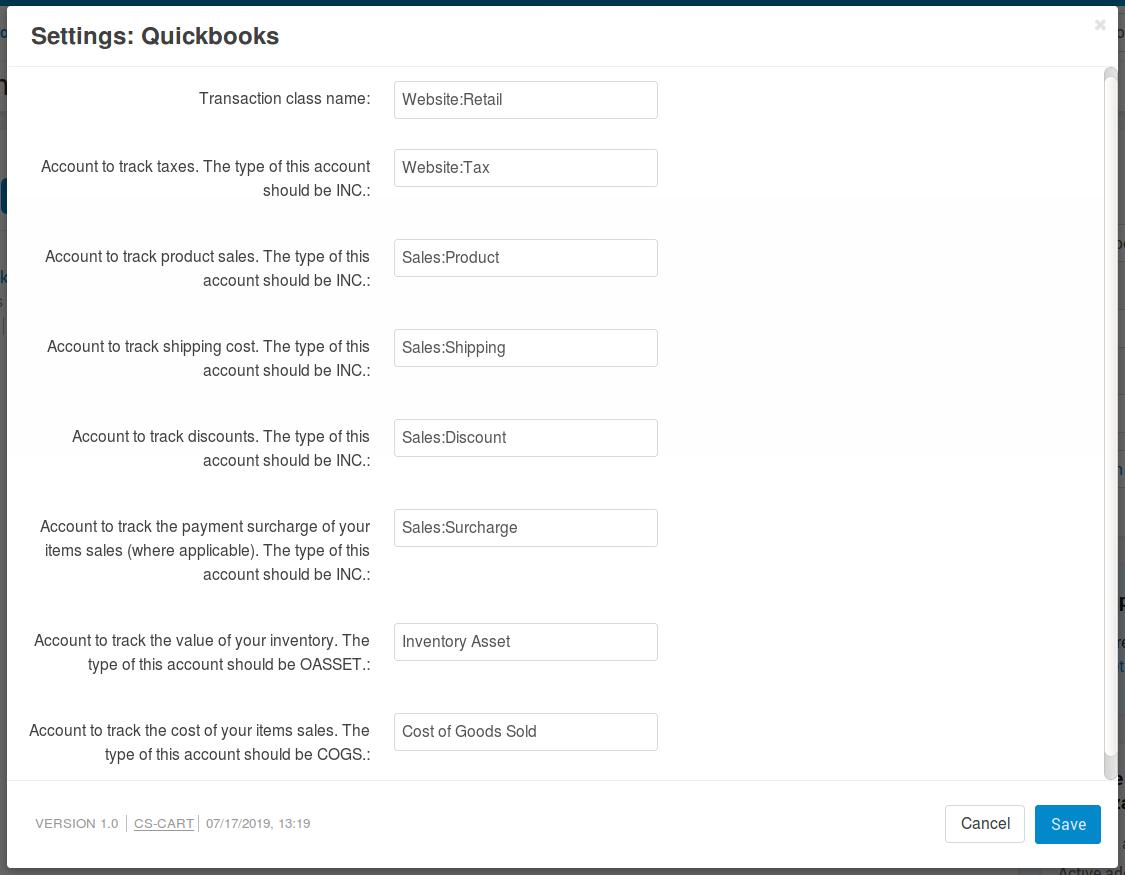 Quickbooks — CS-Cart 4 10 x documentation